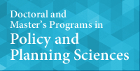 Doctoral and Master's Programs in Policy and Planning Sciences